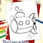 Is your favorite song Yellow Submarine by the Beatles or are you and your preschooler learning about ships in the sea? Use this free printable submarine coloring page to help! My daughter loves Octonauts and if yours do too, they will love coloring their own submarine page. It comes in black and white and available for print right now! #Submarinecoloring #coloringpages #SimpleMomProject