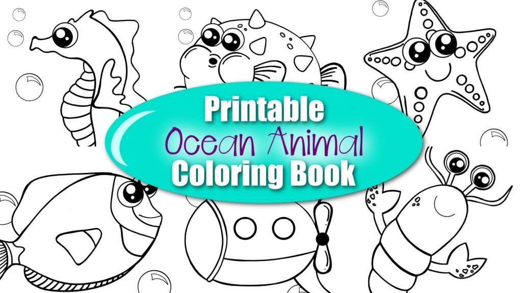 Are you looking for some fun, easy and easy ocean animal coloring pages for your kids? This collection includes our most popular printable ocean animal coloring sheets which are perfect for preschool art projects or home school craft classes. From Angel Fish to Blue Crabs & Dory Fish as well - there's an ocean animal drawing printable your toddlers will love. Simply print the Ocean Animal Coloring Book, grab some of your favorite coloring supplies and get to coloring! It's an exciting way to learn about the beautiful animals in our oceans! #OceanAnimalCrafts #OceanAnimalPrintables