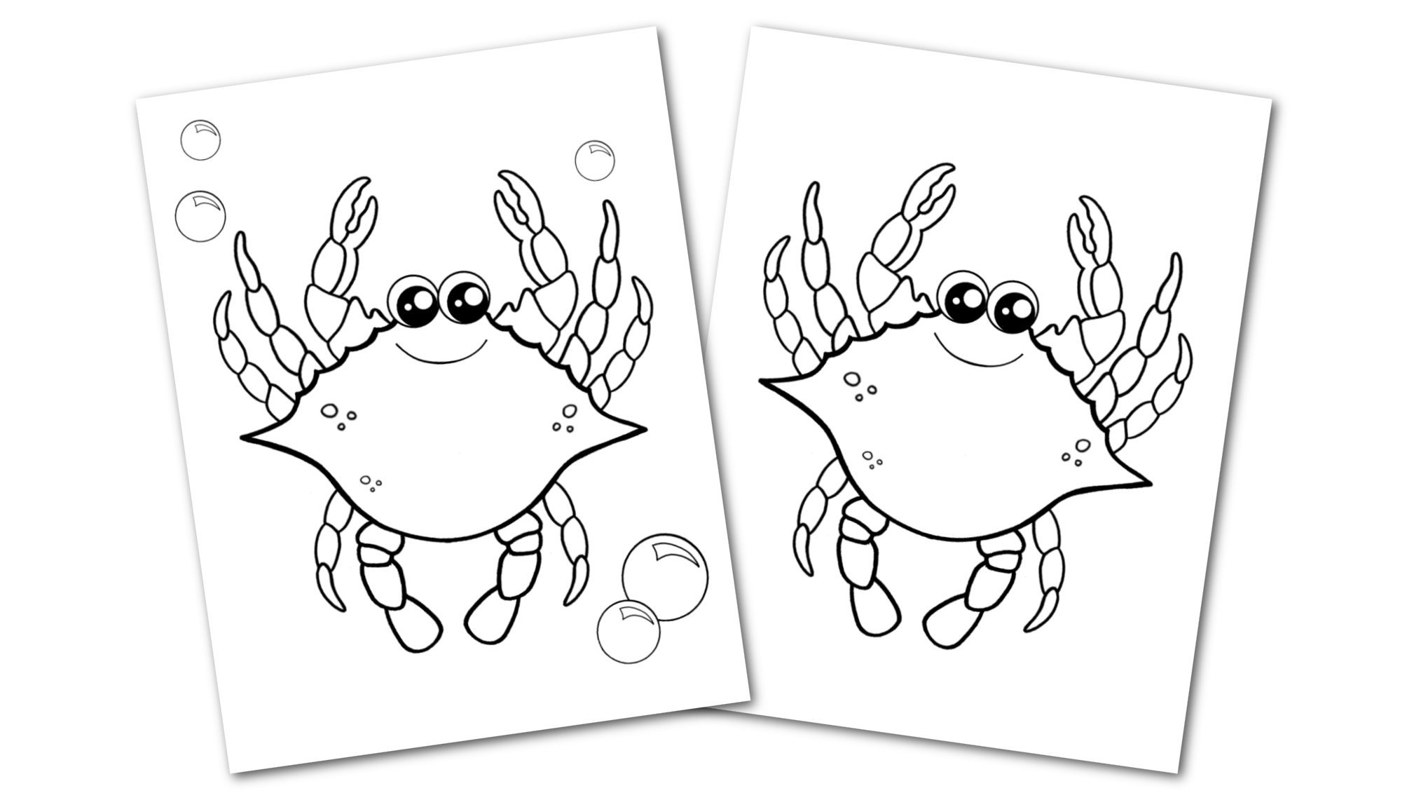 Free Printable Blue Crab Ocean Animal Convertkit for Toddlers, Kids and Preschoolers