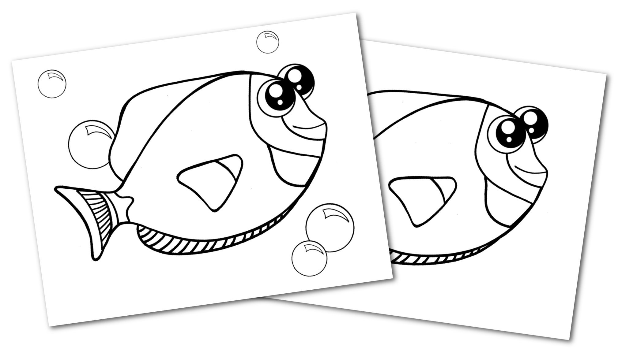 Free Printable Blue Tang Ocean Animal Convertkit for Toddlers, Kids and Preschoolers