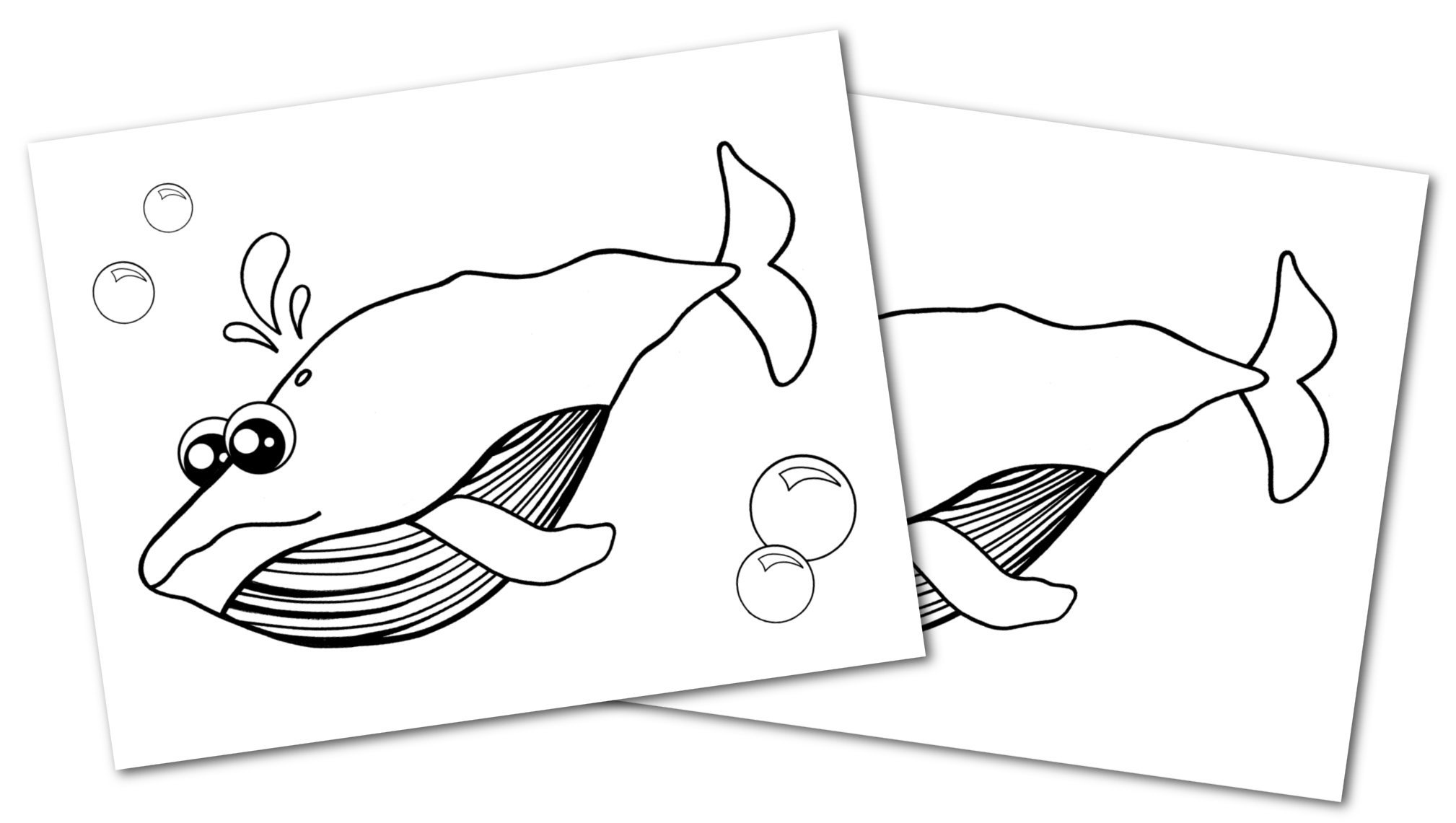 Free Printable Blue Whale Ocean Animal Convertkit for Toddlers, Kids and Preschoolers