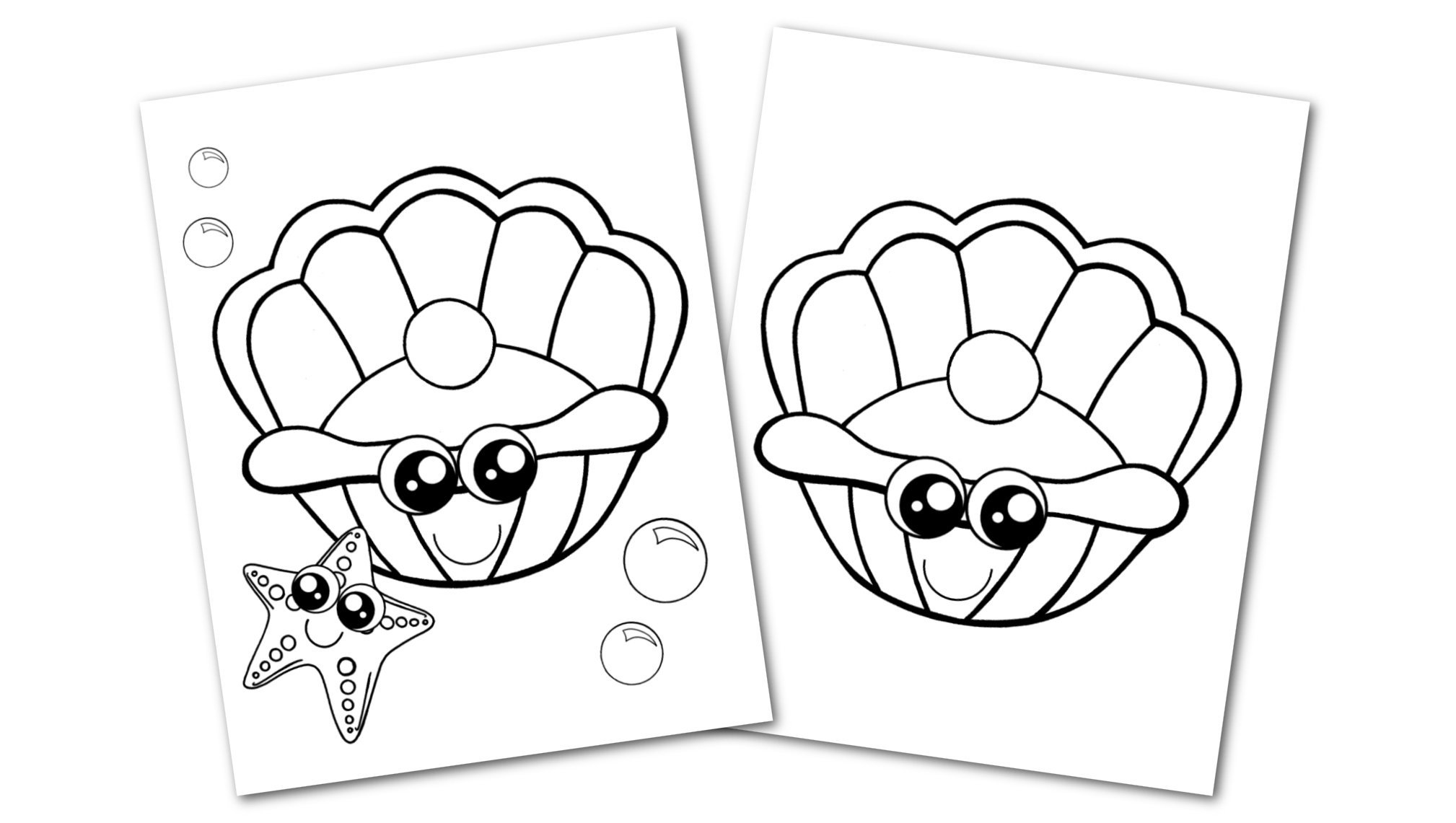 Free Printable Clam Shell Ocean Animal Convertkit for Toddlers, Kids and Preschoolers