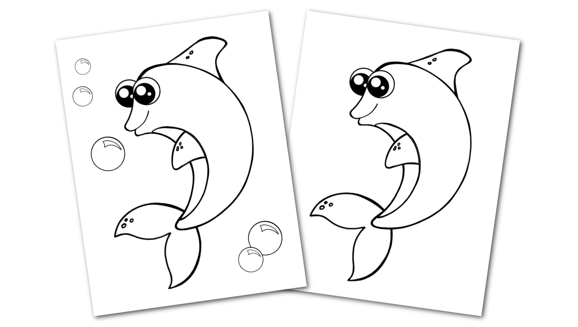 Free Printable Dolphin Ocean Animal Convertkit for Toddlers, Kids and Preschoolers