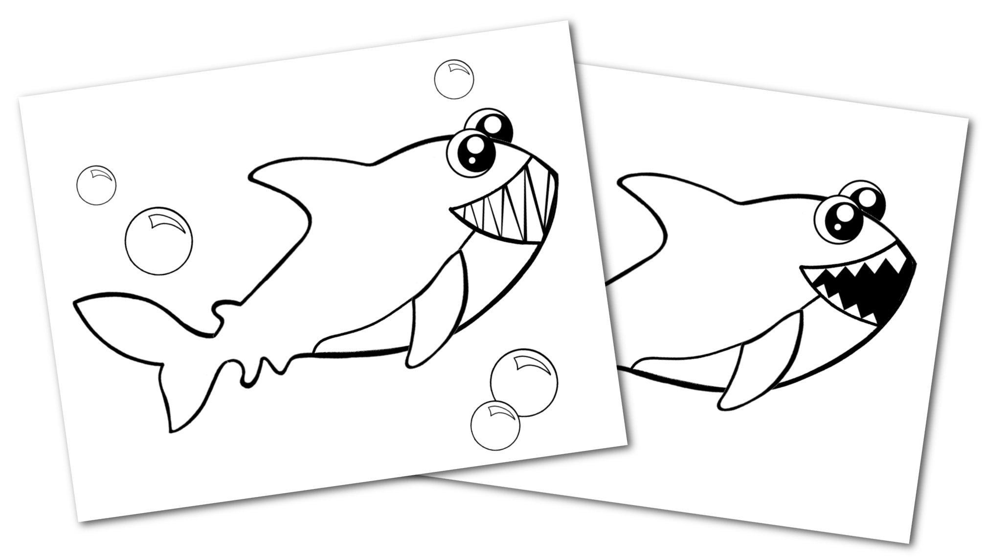 Free Printable Shark Ocean Animal Convertkit for Toddlers, Kids and Preschoolers