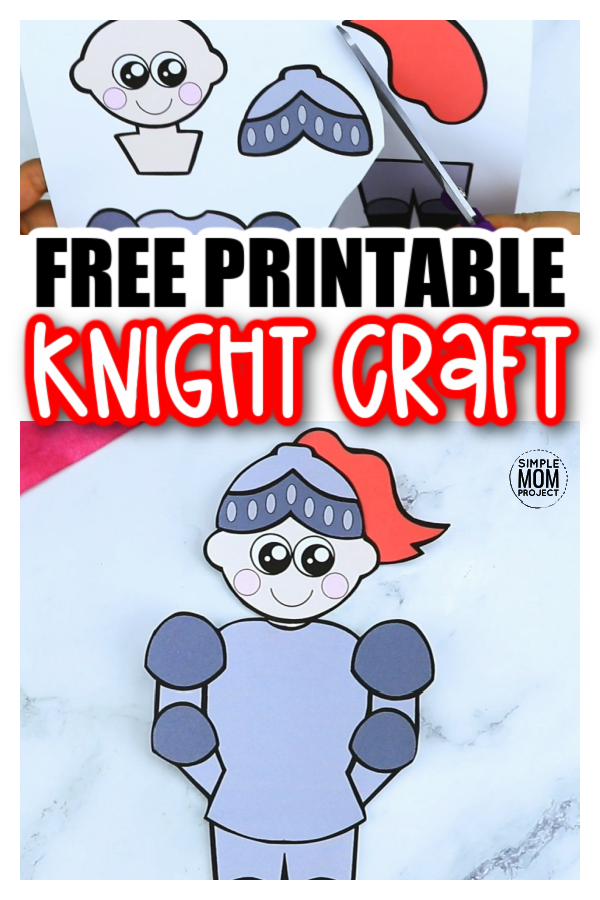 Whether your kid is into medieval times, middle ages or loves playing swords and shielding against a dragon, this fun knight craft will sure to be a hit! The free printable knight craft template is perfect for kids of all ages to enjoy, including preschoolers, toddlers and kindergartners. Who said boys can't have fun at a princess tea party? Print a few of these off so they can have a great time or give them as party favors when the guests leave. The mom's will certainly thank you later. Then, come back and tell us how much your jousting knights loved making this craft!
