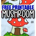 Are you looking for a fun and easy way to get your preschooler or toddler interested in making a garden? This toadstool mushroom will be the perfect lesson! The mushroom template is easy to put together and your toddlers will have a blast decorating it however they choose. They can pick the standard red or make a full garden of mushrooms. Print as many as you need. It is perfect for kids of all ages, including preschoolers, kindergarten and your whole classroom. They will all want to make a mushroom! #mushroomcraft #toadstoolcraft #mushroomtemplate #simplemomproject