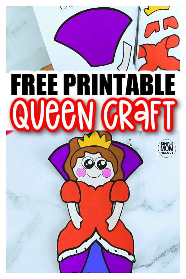 Are you looking for an easy, printable, paper queen craft template you and your preschool or kindergarten students can cut out? The free printable queen template makes this cute and simple queen craft an easy way to teach the upper and lowercase letter Q. You can use her as an elegant coloring activity or glue to a paper plate for an elegant place setting!