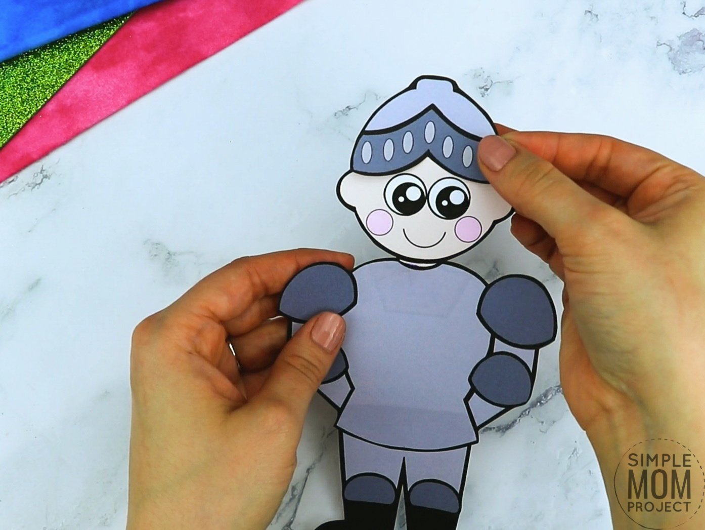 Free printable royal knight page template for kids, preschoolers and kindergartners