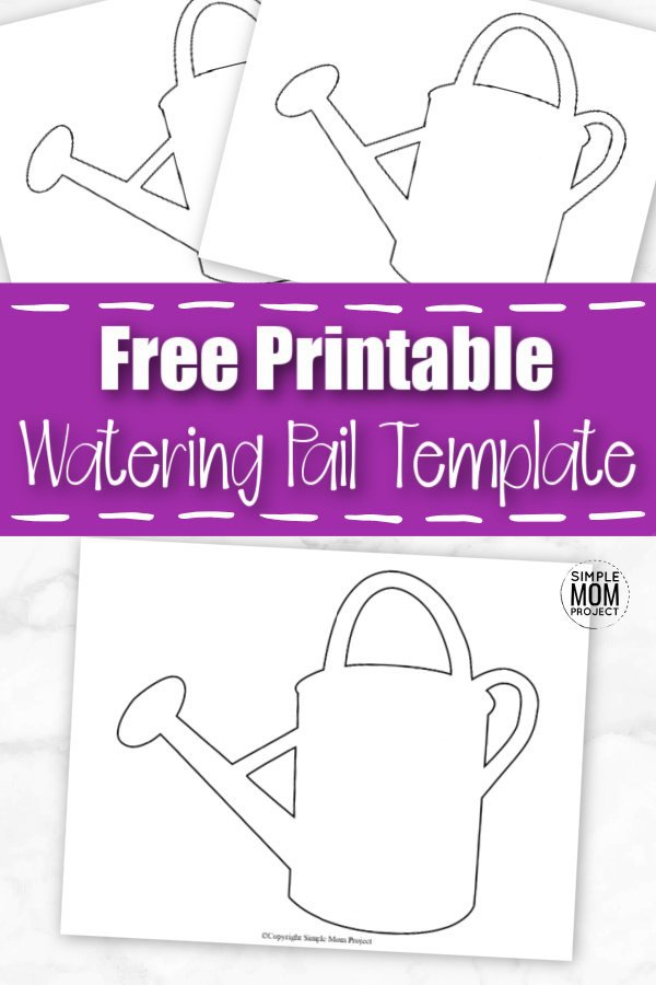 Click now to download this free printable cartoon watering pail template. Use it as a simple coloring page or glue to it to a get well soon card. The cartoon design make this a perfect addition to the rest of our spring templates. Print yours now. #WateringPailTemplate #SpringTemplate #SimpleMomProject