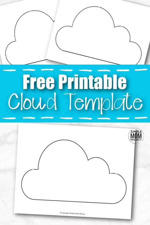 Click now and download this printable cut out cartoon cloud template. The blank design is perfect when making beautiful rainbows. Do you have a dream about making the perfect baby shower invitation? This free cloud template is the perfect printable design. Color it blue or leave it paper white. The choice is all yours! You can even teach your preschoolers the letter C with this simple cloud template! #cloudtemplate #Springtemplates #SimpleMomProject