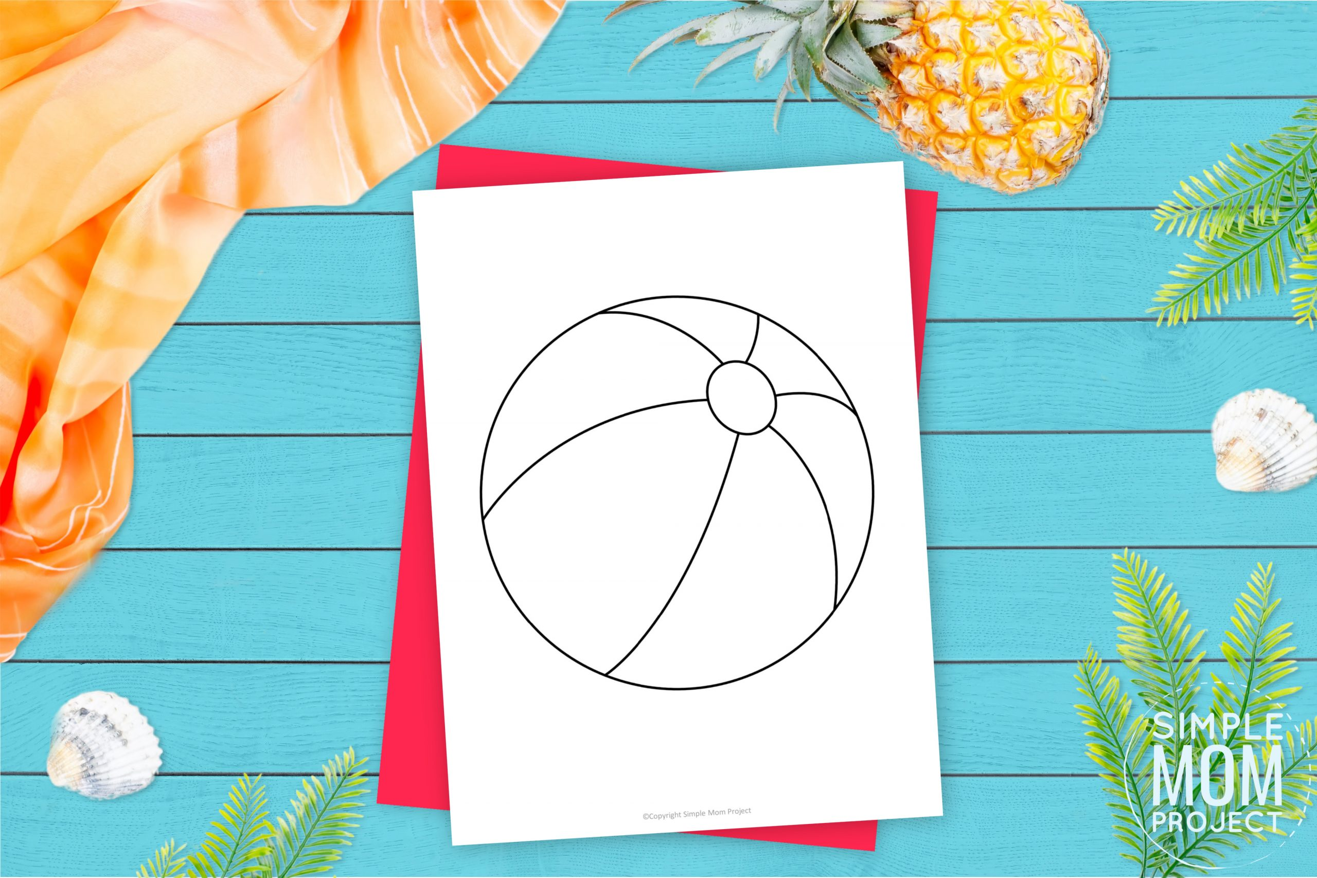 Free Printable Beach Ball Template Simple Mom Project