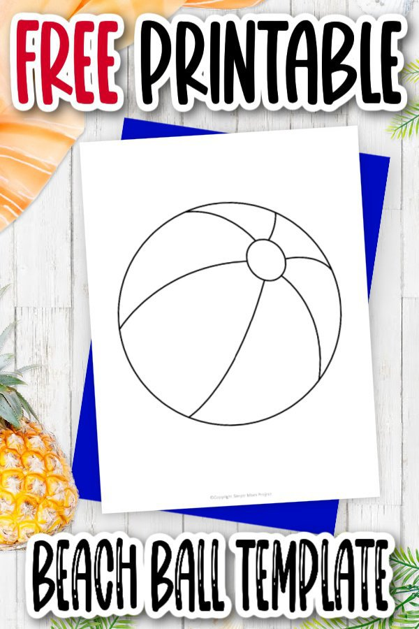 Are you looking for a fun way to keep your preschool kids from flat boredom this summer? Click and download this free printable cartoon beach ball template today! It is the perfect coloring page or you can use it as a cut out pattern for your own art projects.