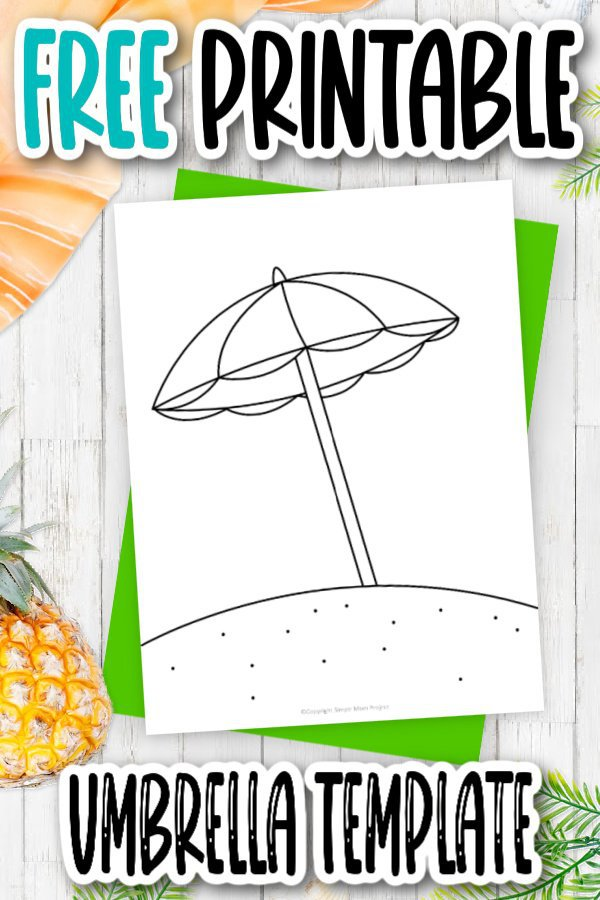 Click now to download this free printable summer, cartoon beach umbrella template. It is perfect for coloring pages, journal cards, a simple umbrella craft or a fun summer road trip activity. Print as many beach umbrella template outlines you need!