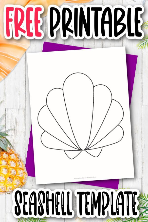 Are you looking for a fun way to invite guests to a beach party? This cut out outline seashell template is just the thing. It also makes the perfect seashell coloring page and with the simple design, you can even print it and put it in the bathroom as decoration! Click and download the free printable seashell template today!