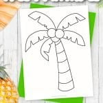 Are you looking for a fun printable and simple way to teach the letter P? Use this outline stencil palm tree template to help! This fruit can be used in any summer craft or palm tree coloring pages. The ways to use this palm tree template are endless! Click and download the free printable palm tree template now!