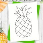 Are you looking for a fun printable and simple way to teach the letter P? Use this outline stencil pineapple template to help! This fruit can be used in any summer craft or pineapple coloring pages. The ways to use this pineapple template are endless! Click and download the free printable pineapple template now!