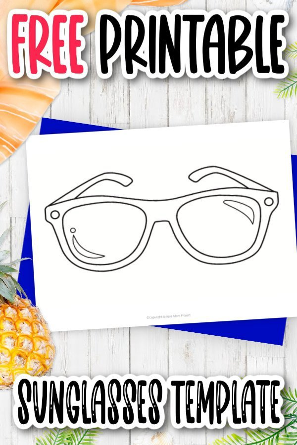 Are you looking for a fun addition to a beach party? Use this free printable sunglasses template as a simple outline cut out preschool coloring page or even, invitation to the party or even as photo booth props! The blank sunglasses design makes this a super fun summer craft to do with the kids! Click and print this sunglasses template today!