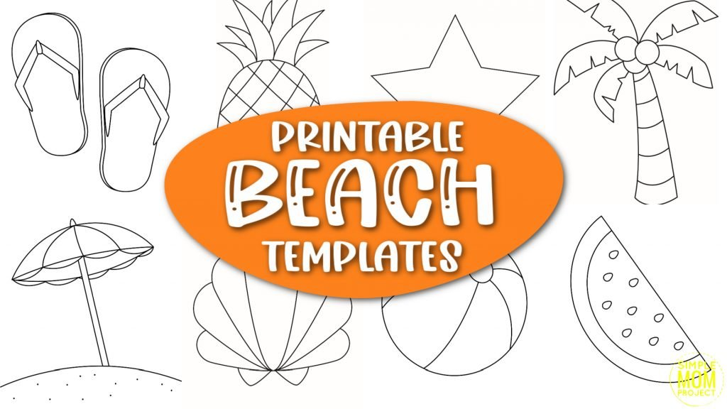 Are you looking for a one stop shop to your summer template needs? Click now to download and print these easy and classic beach summer templates perfect for beach party invites, summer coloring pages, or a rainy-day activity your kids will love!