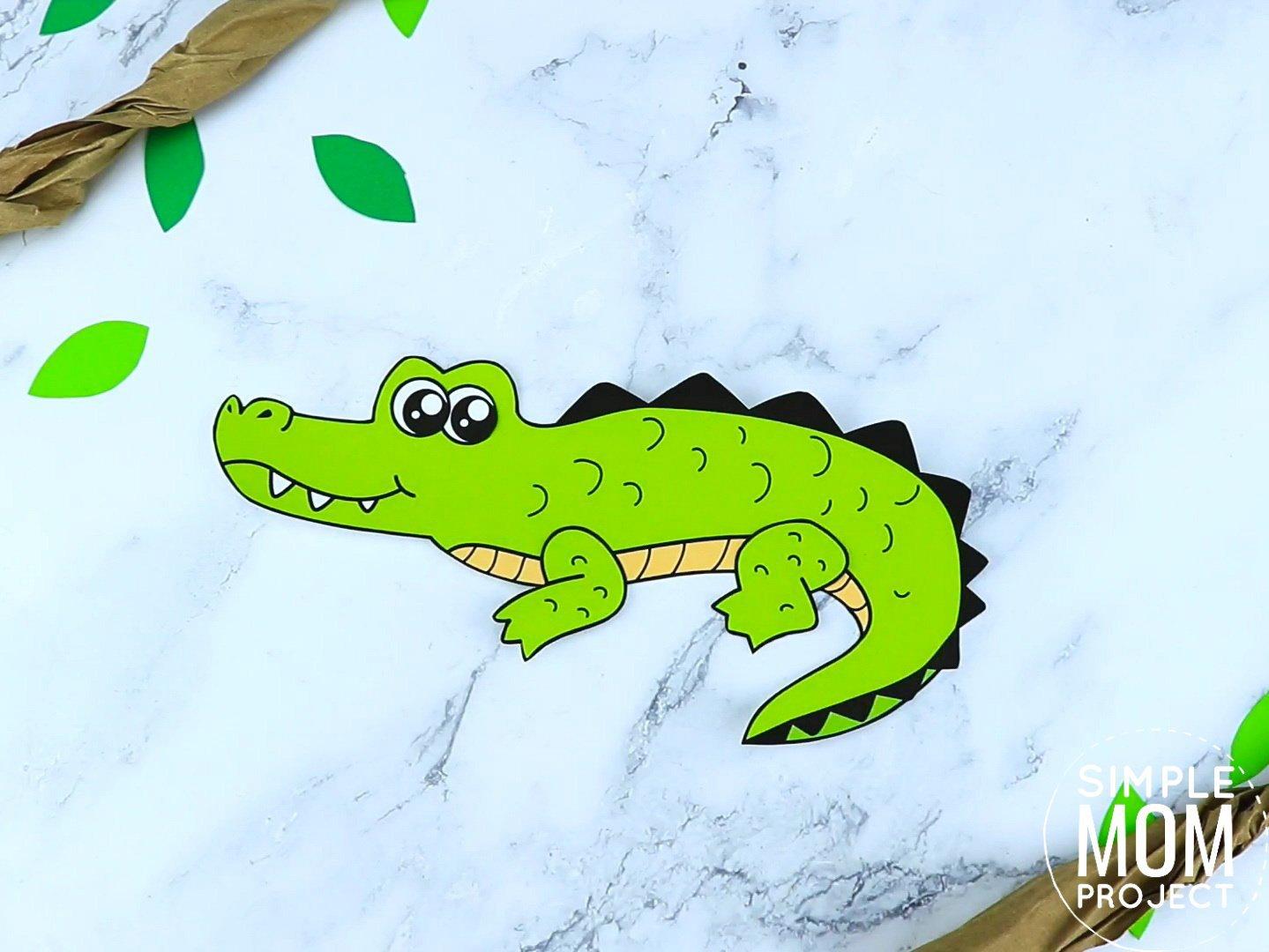 Free Printable Crocodile Craft for preschoolers, toddlers and kindergartners