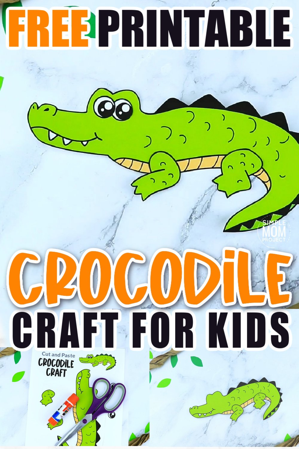 Are your kids into easy peasy crocodile crafts? Then they will absolutely love this printable cut out crocodile template! With the step by step tutorial, you can glue this crocodile craft together in no time. Kids of all ages will love making him! Click and download the free printable crocodile template now!