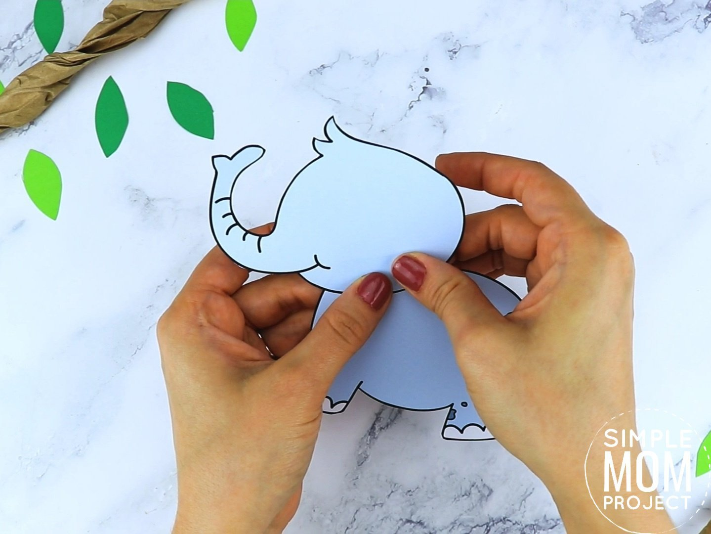 Free Printable Elephant Craft for preschoolers, toddlers and kindergartners