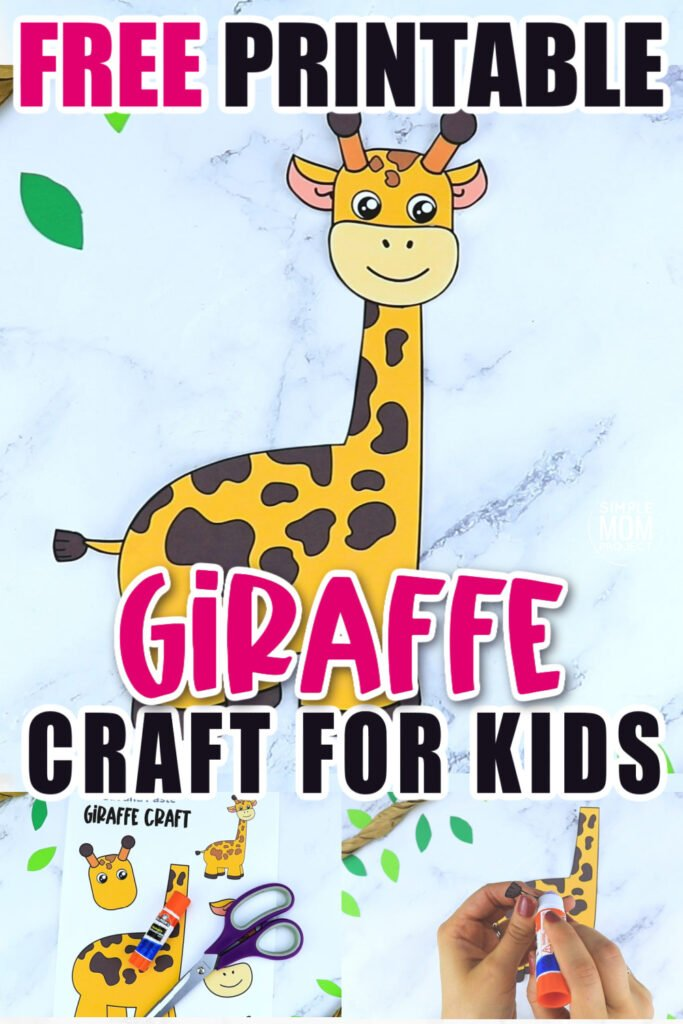 Are you teaching the letter G to your preschooler, kindergartener or toddler? Why not use this free printable yellow giraffe craft cut out template? It is so simple kids in all grades will love making him! Glue the giraffe craft to a clothespin, a paper plate, paper bag or even a toilet paper roll to turn this giraffe craft into a fun zoo animal puppet!