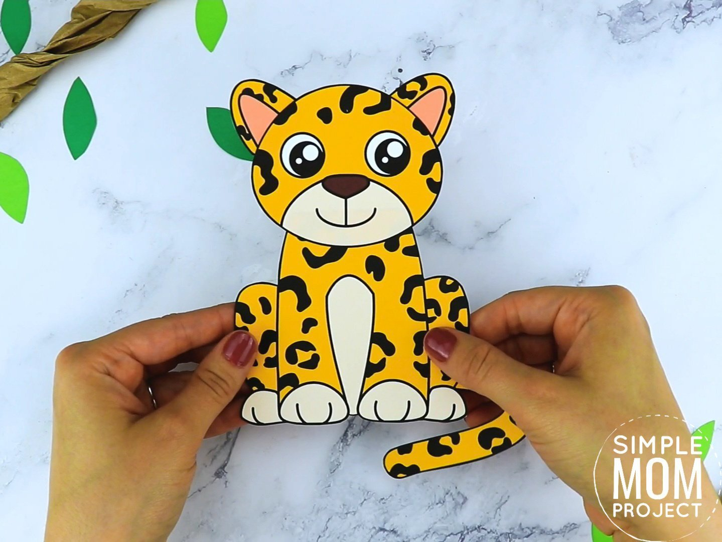 Free Printable Leopard Craft for preschoolers, toddlers and kindergartners