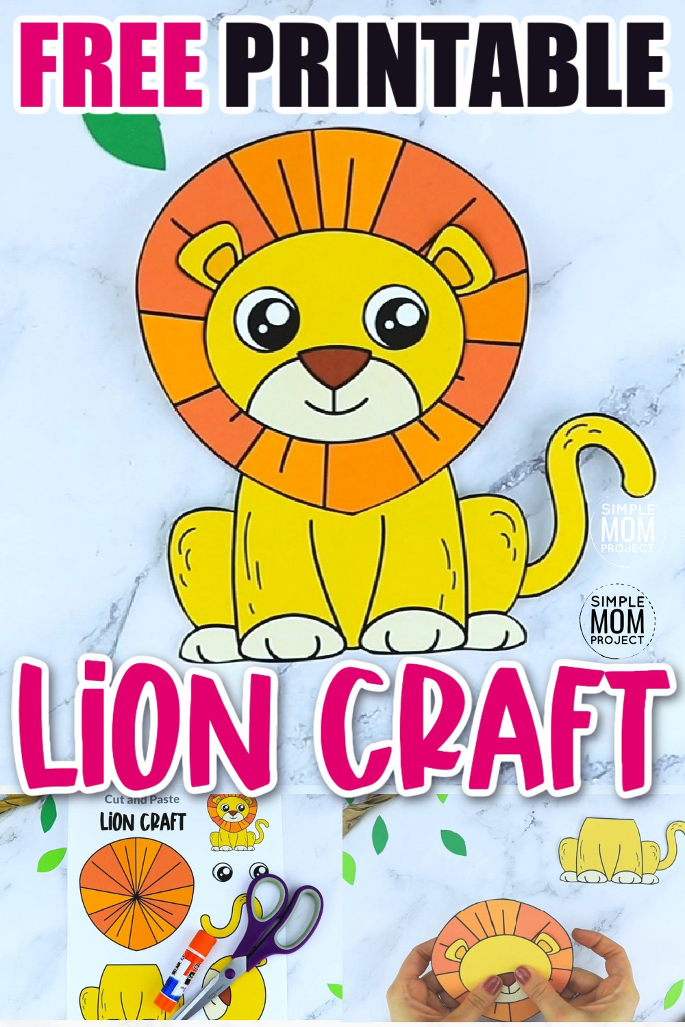 Are you looking for a fun and easy way to teach the letter L to your preschool, kindergarten or even toddler age kids? Use this fun lion craft to do it! It is perfect for cutting practice while you watch Daniel the Lion too! This diy lion craft template can also be glued to a paper plate or paper bag and turned into a fun art puppet.