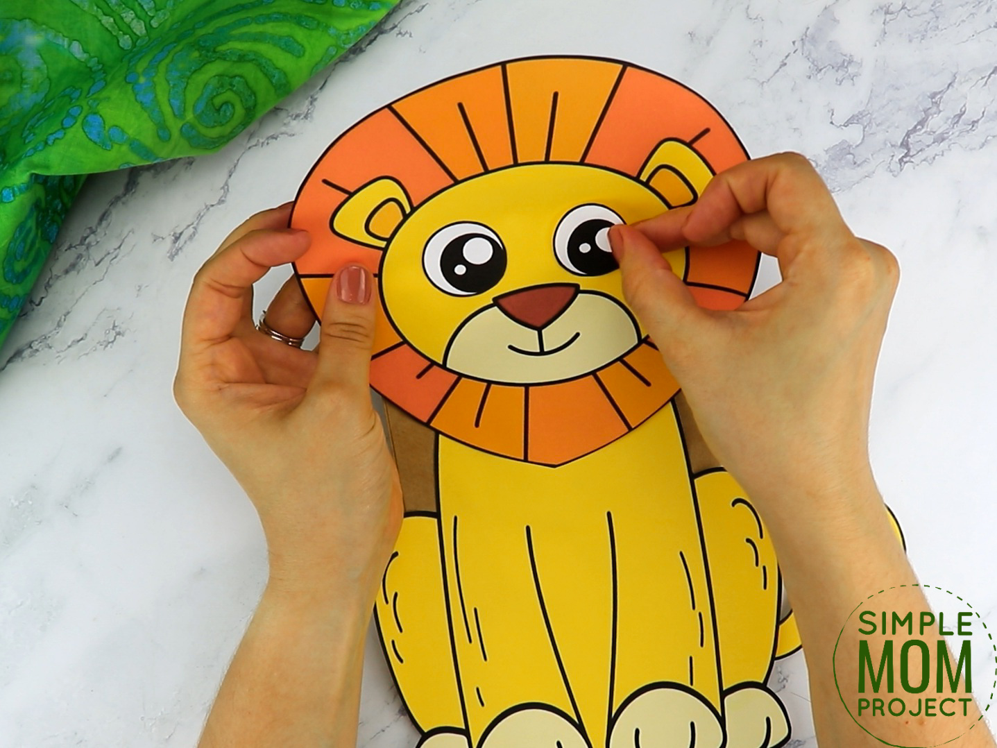 Free Printable Paper Bag Lion Puppet Craft for Kids preschoolers and toddlers