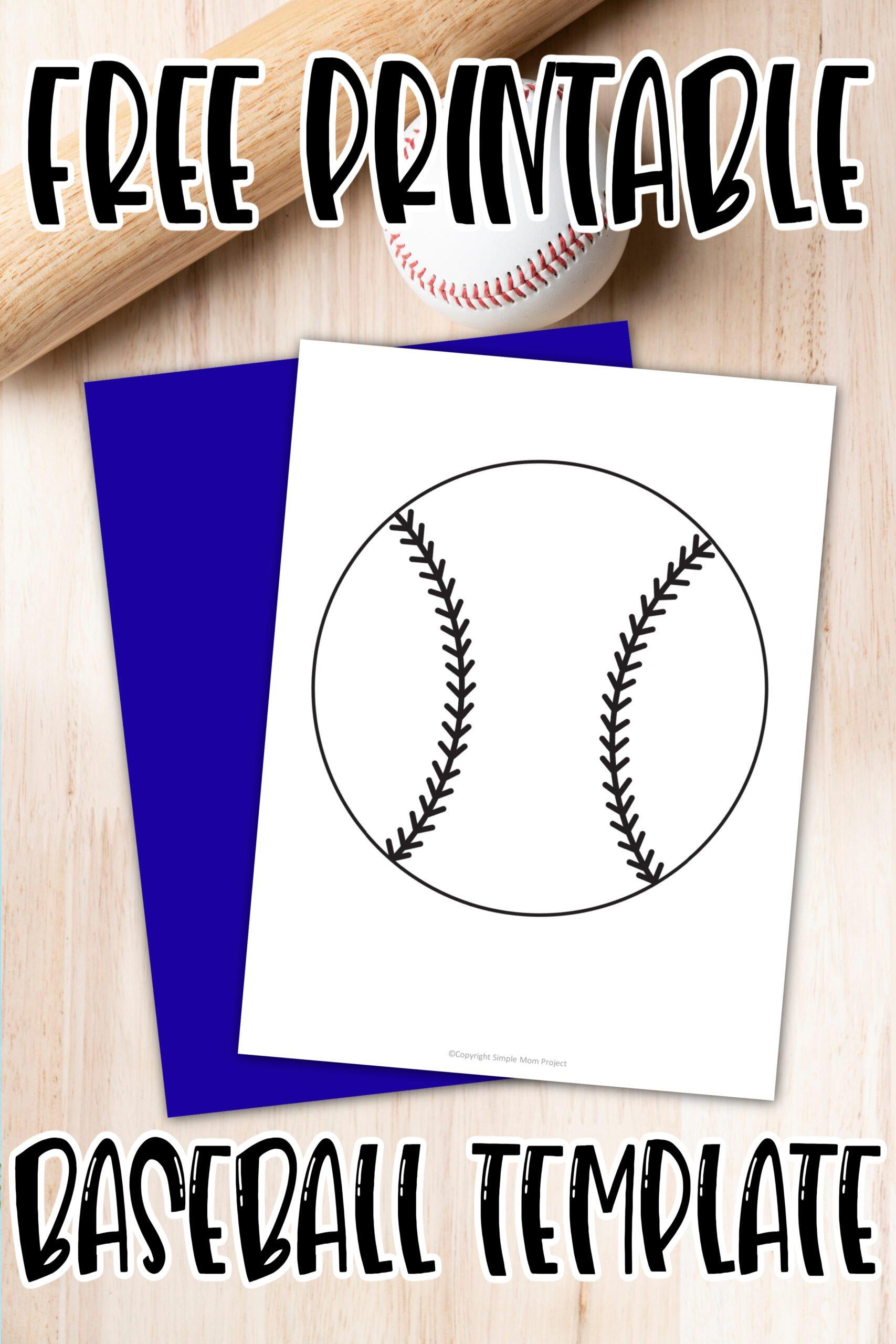 Free Printable Baseball Template Simple Mom Project