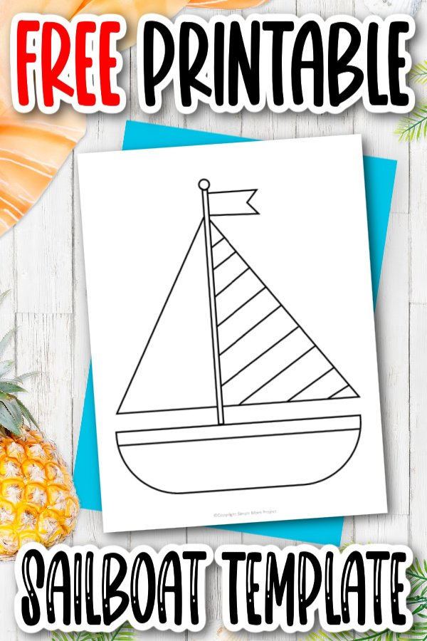 Are you looking for an easy, printable cut out outline of a sailboat template for your preschooler? This cut out stencil sailboat is perfect for clip art, string art, a summer nautical papercraft or a simple coloring page. Click now to download and print the sailboat template today!