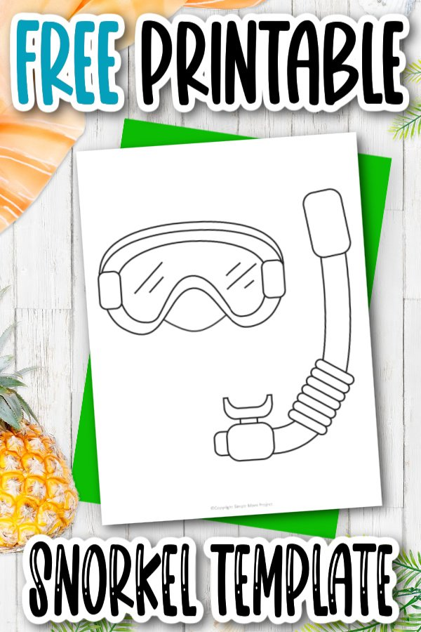 Do you love to scuba dive? Why not add this snorkel template to your summer fun crafts on rainy days. You and your kids can pretend you are in the ocean or under water by adding sharks or fish to the snorkel template. Click to download this free printable snorkel template now.