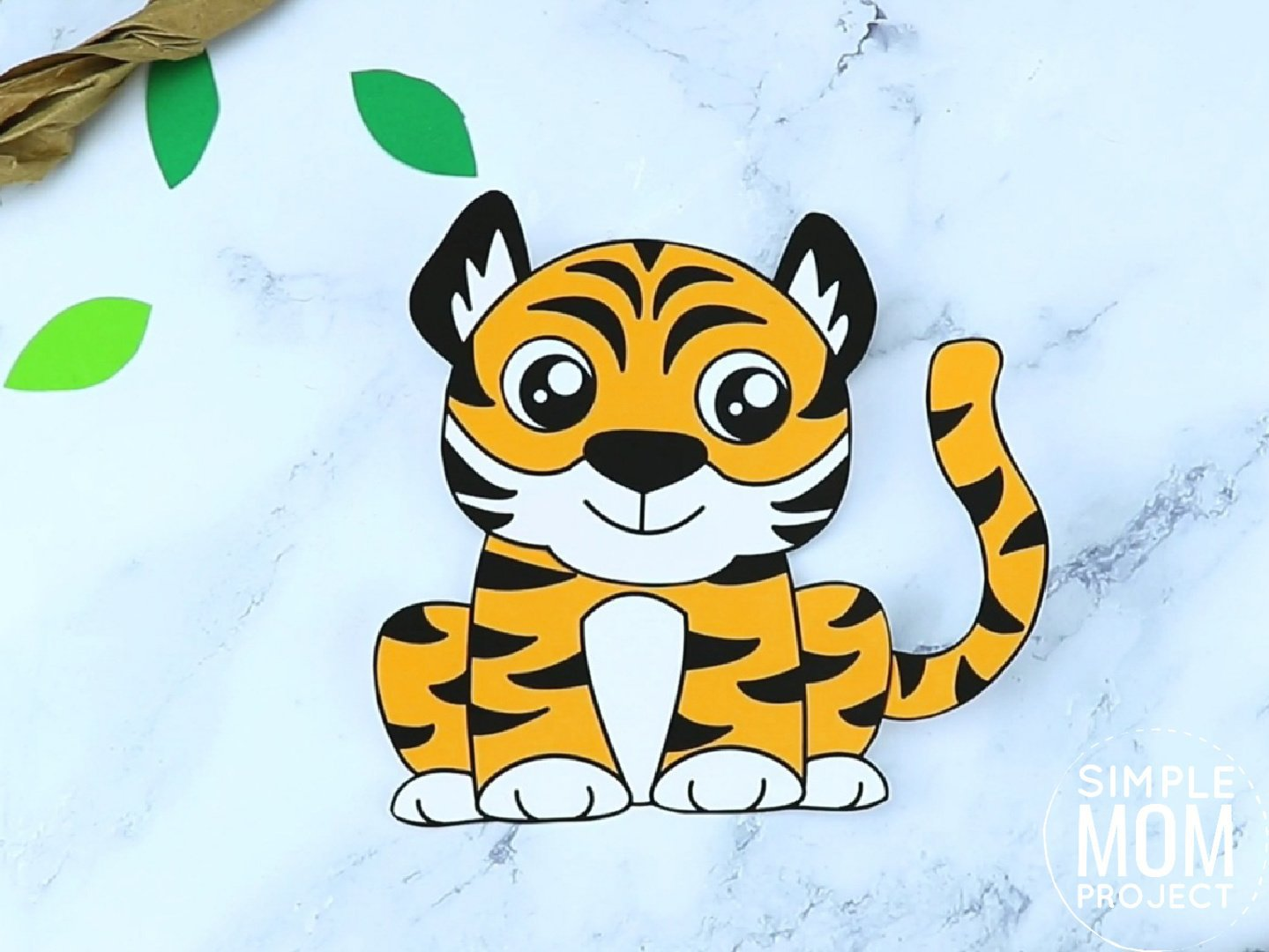 Free Printable tiger Craft for preschoolers, toddlers and kindergartners