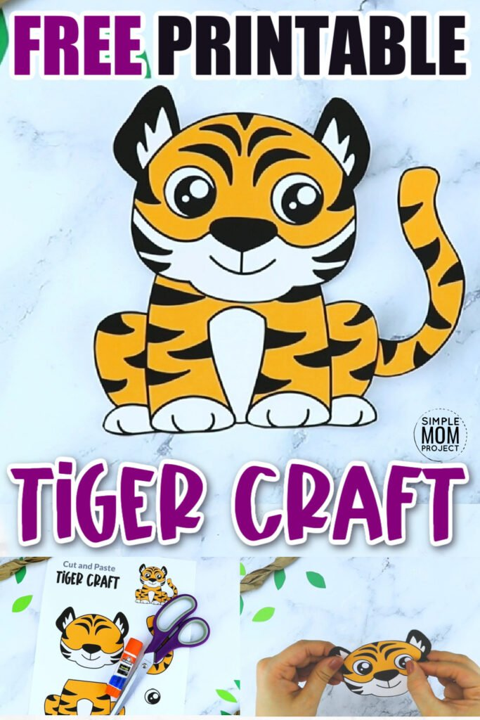 Are you teaching the letter T to your toddler, preschooler or kindergartner and need a printable activity to go along with the lesson? This free printable tiger craft template is the perfect thing! Glue him to a box, paper plate, cardboard tube, the options are endless! Click and download your free printable tiger template now!