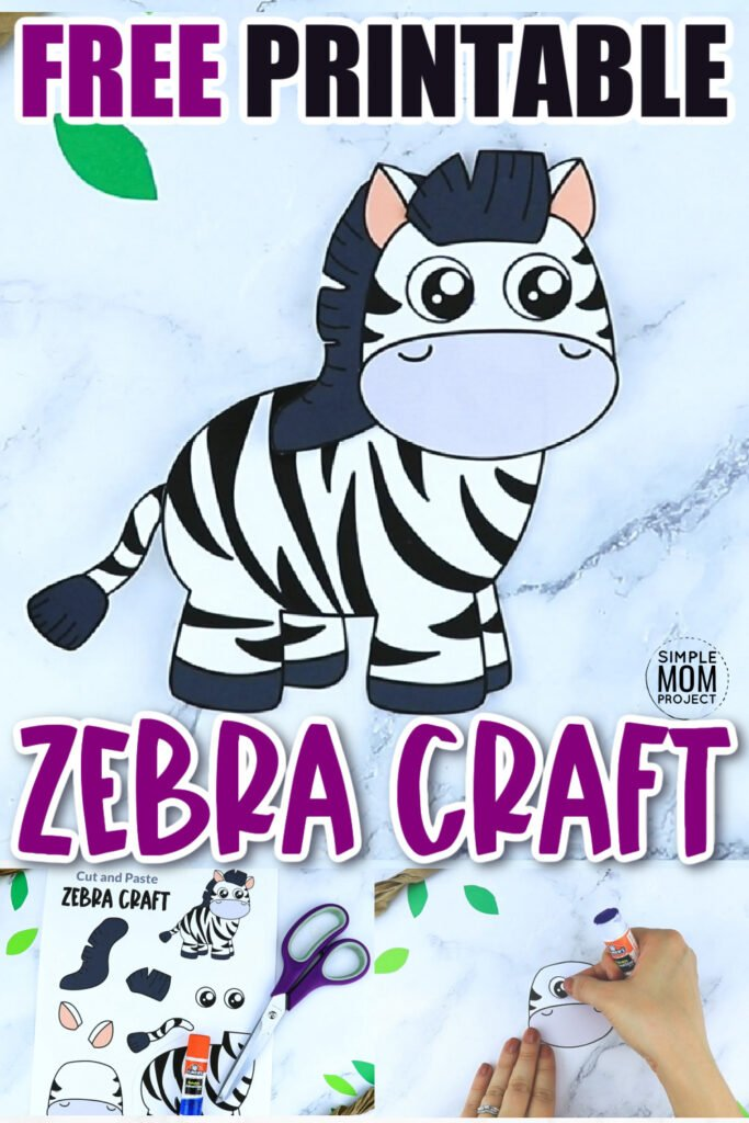 The letter Z is so much fun to teach! Especially when you have a free printable zebra to go along with the lesson. Kids of all ages will love piecing together this zebra craft template. Glue him to a paper plate, cardboard tube or even a paper bag and turn this simple zebra craft into a work of art! Click now to download and print the zebra craft template today.