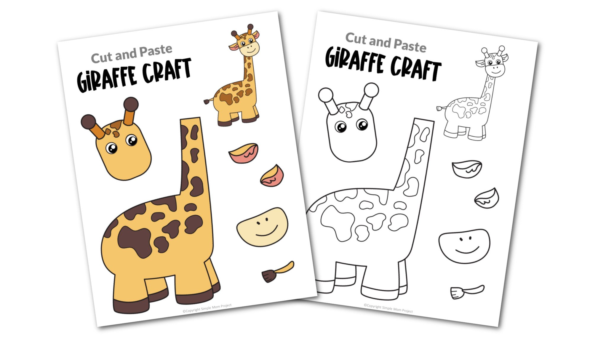 Giraffe Cut and Paste Craft for Toddlers, Preschoolers and Kindergarteners Convertkit