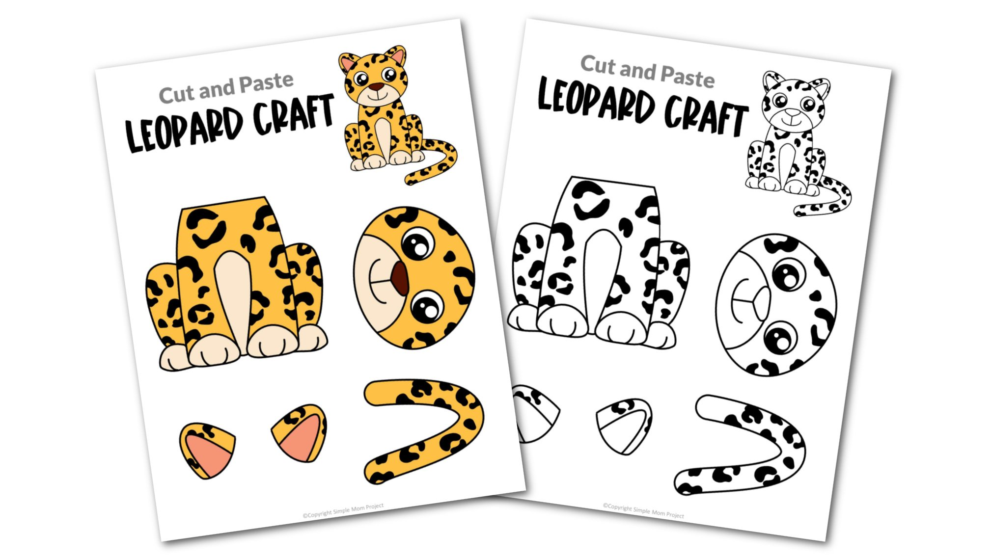 Leopard Cut and Paste Craft for Toddlers, Preschoolers and Kindergarteners Convertkit