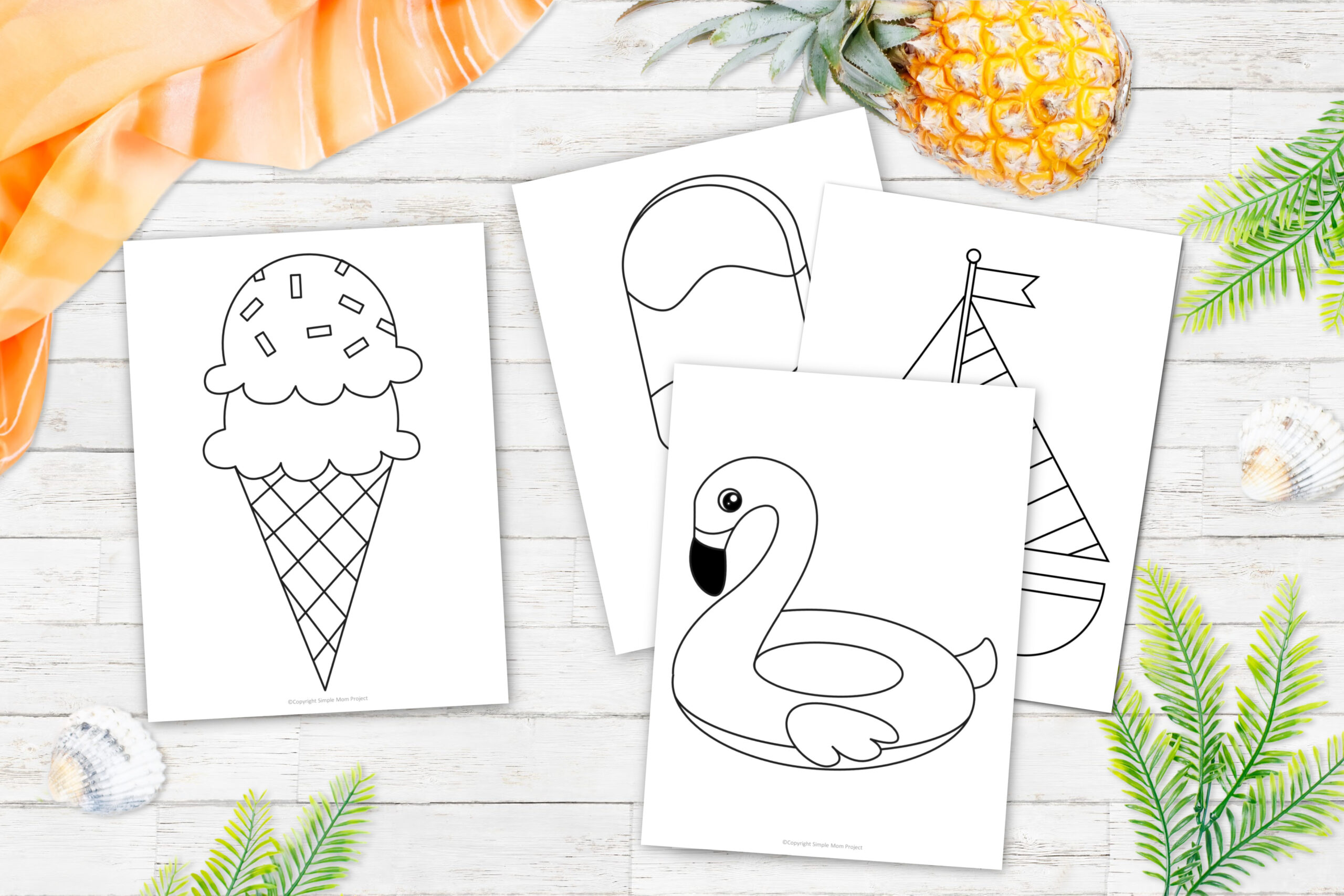 Printable Beach and Summer Templates for Kids preschoolers and toddlers