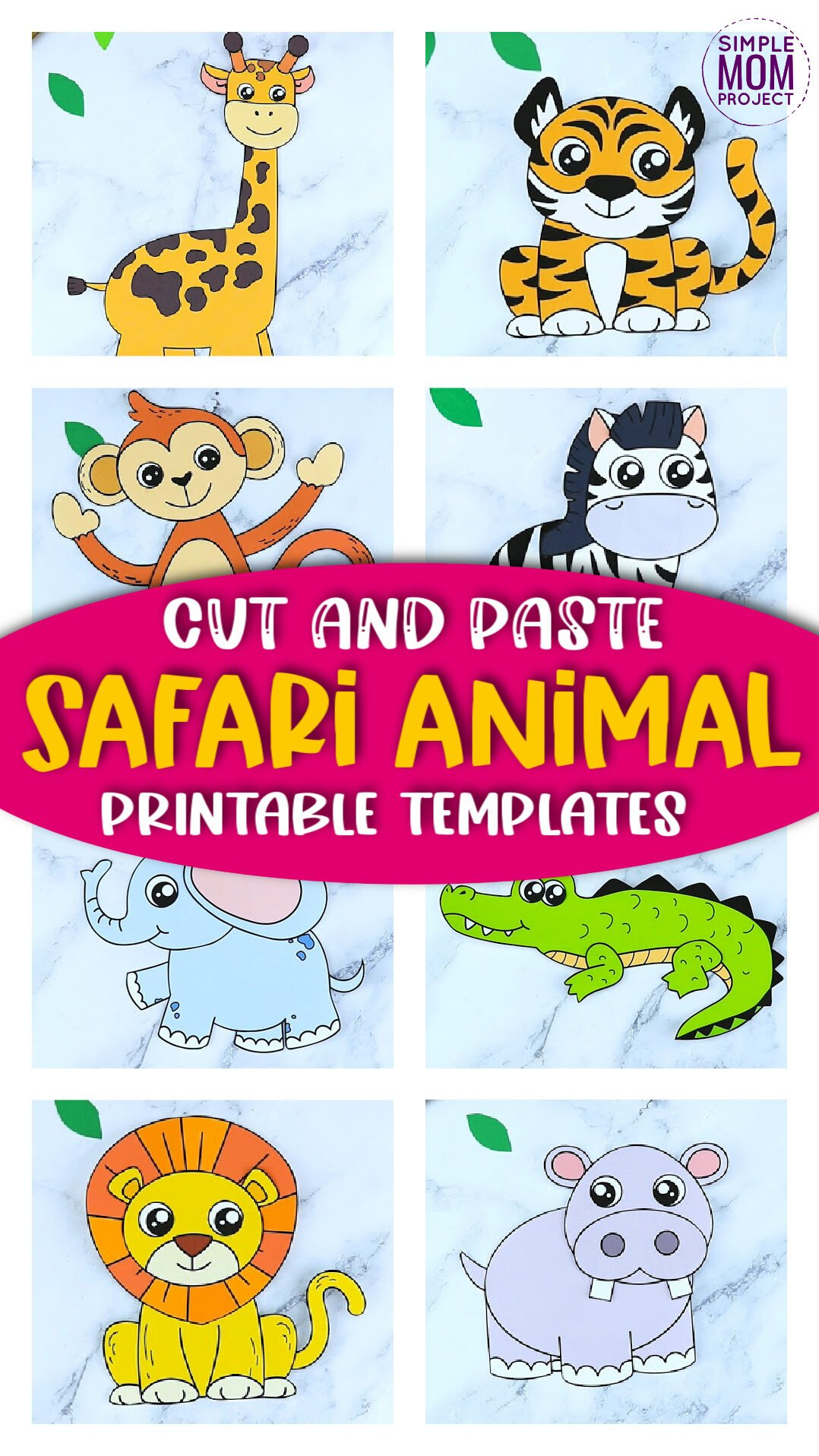 Looking for the best zoo animal character crafts for your kids? These easy jungle animal crafts have fun cut and paste templates to keep toddlers, preschoolers or even big kids amused for hours. Including our popular lion craft, zebra craft and tiger crafts and many more these are sure to be a big hit with your kids for fun craft activities or even homeschooling lessons. Click here to grab these awesome safari animal character craft templates today.
