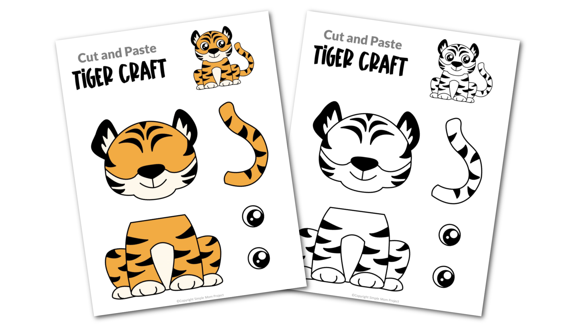 Tiger Cut and Paste Craft for Toddlers, Preschoolers and Kindergarteners Convertkit