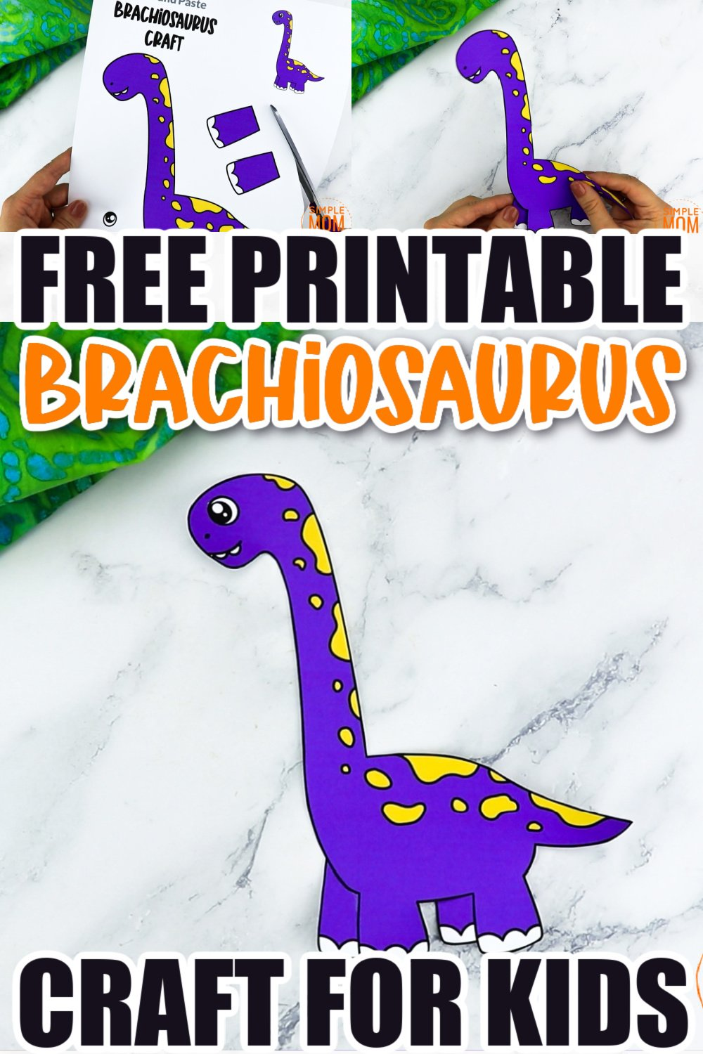 Do your kids love Jurassic Park? Check out this brachiosaurus craft! Your kids can use it as a drawing template for a paper plate craft or glue it to cardboard! Click now to download and print the free brachiosaurus dinosaur template now!