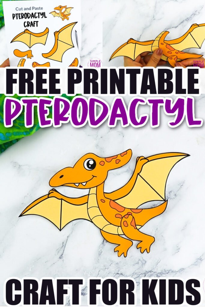 Does your preschooler or kindergarten student love flying dinosaurs? What about fun flying dinosaur paper crafts? You will definitely want to snag up the free printable pattern pterodactyl template. Add a string to the back and change this paper pterodactyl dinosaur craft into a hanging flying one! Click now to download and print the pterodactyl template today!
