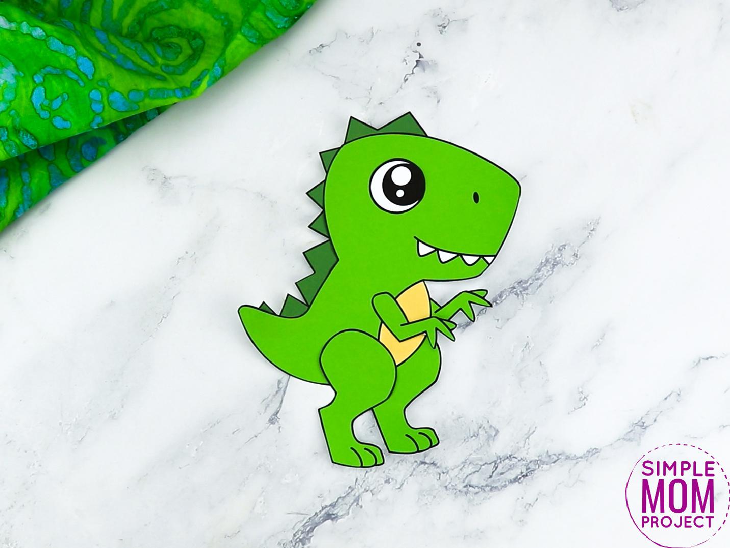 Free Printable Trex Dinosaur Craft for Preschoolers, toddlers and kindergartners