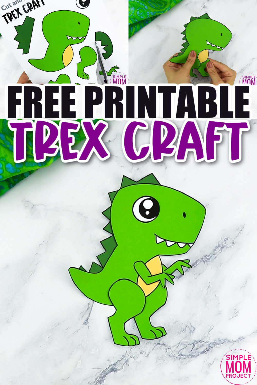 Does your preschooler love coloring their favorite dinosaurs? What about turning them into a paper plate toy? Use our free printable tyrannosaurus rex template to make this adorable dinosaur craft! This trex craft is perfect for kids of all ages including toddlers and kindergartners!