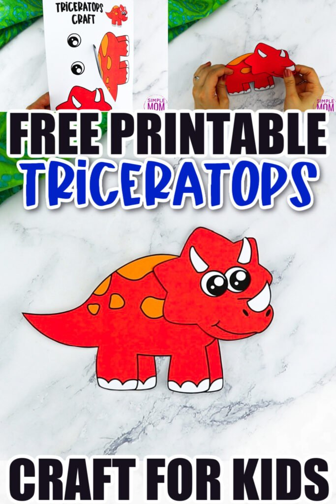 Does your preschooler love Jurassic park? What about puzzles? Look no further because this fun triceratops craft is perfect for your little one! With the free printable triceratops template, your kids can build their very own dinosaur friend. Click now to download and print the free triceratops dinosaur template today