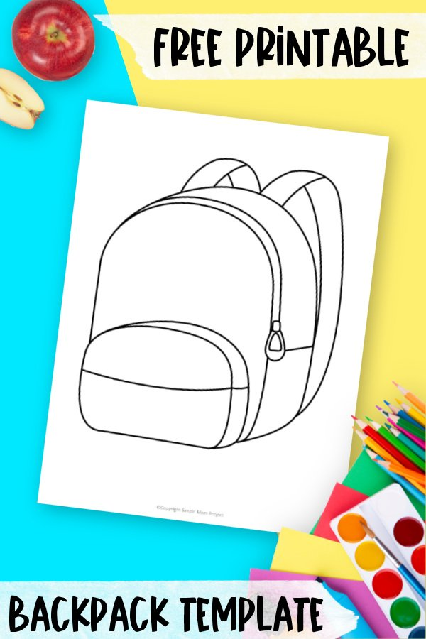 Are you looking for a drawing of a school bag for your preschool students? Click now to download and print on paper this free printable backpack template outline. Use it for a fun back to school coloring page or a DIY classroom decoration!