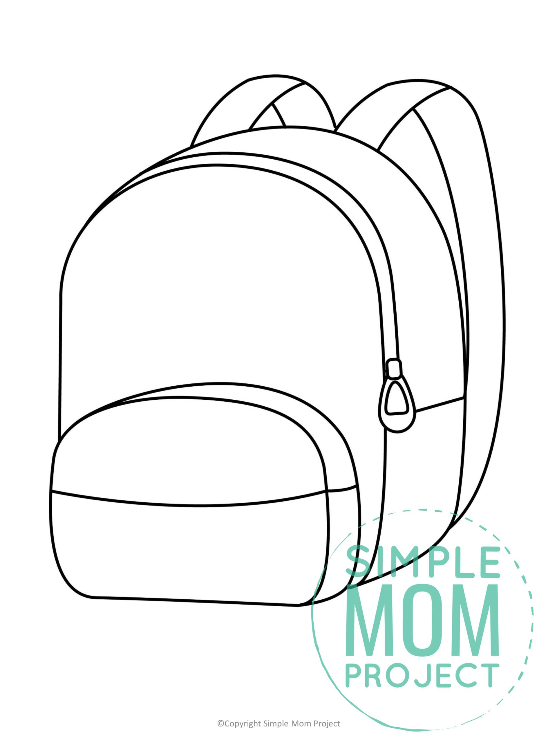 Free printable backpack template for kids preschoolers and toddlers