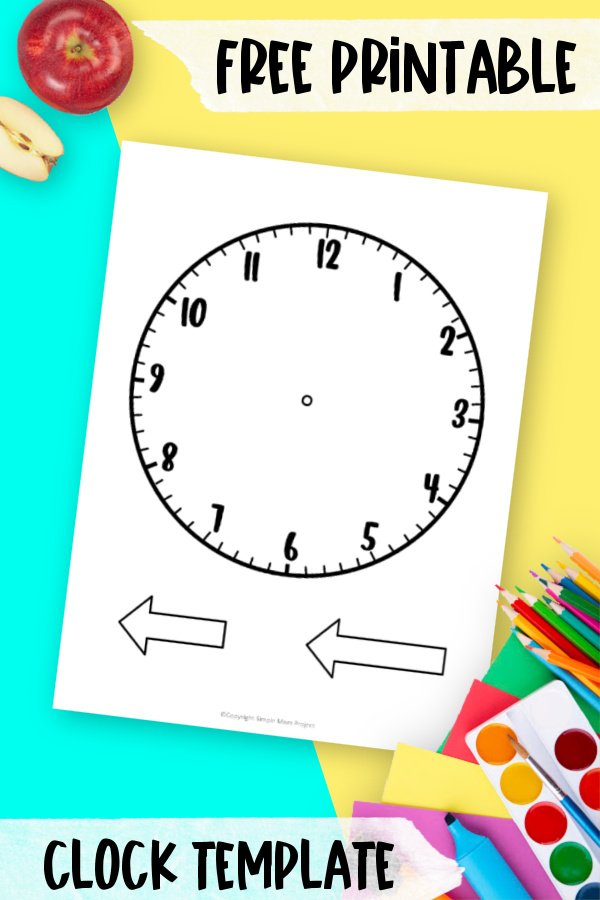 Are you teaching your math students hot to tell time? Use this free printable clock template to help! With the large paper clock, it will make teaching them to tell time easier! Click and download the free printable clock template today!