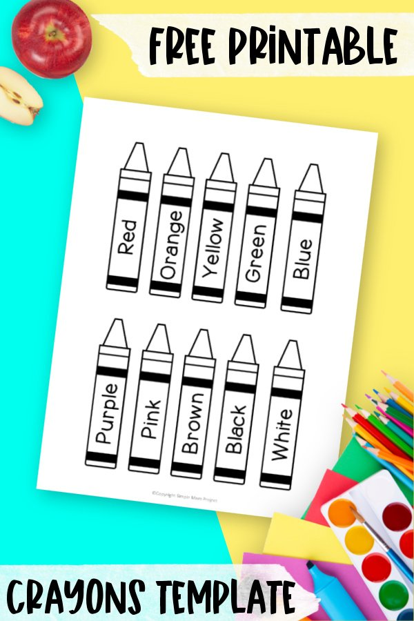 Do your kids love coloring with crayons? Why not use this free printable crayon template for the perfect coloring activity! Your kids will love them! Use it to teach colors and ask them to name them. Click to download and print these blank outline crayon templates!