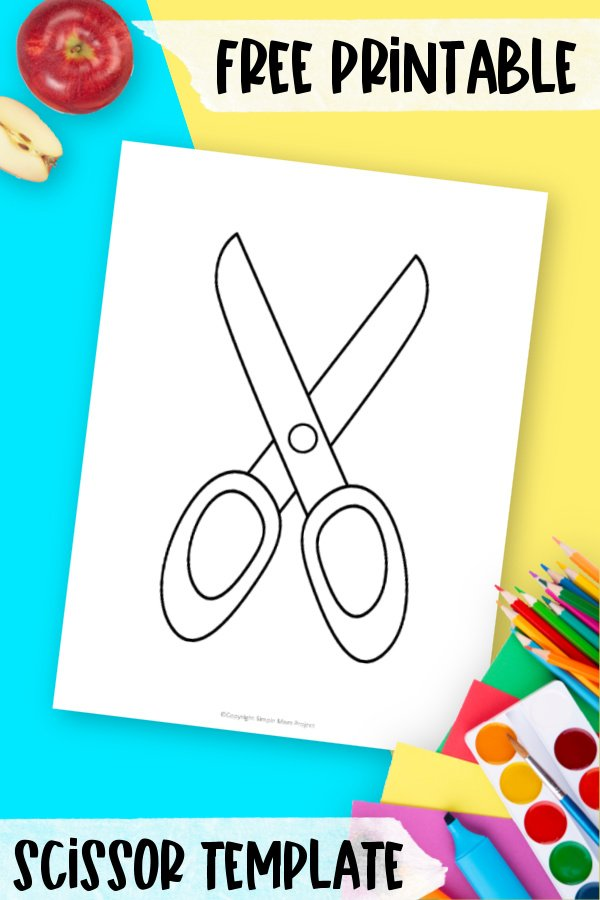 Are you teaching your kids to cut on the dotted line? Have fun drawing dots around this scissor template. They can use the dots or dashed lines in practicing their scissor cutting skills. Click and download and print this free scissor template today!